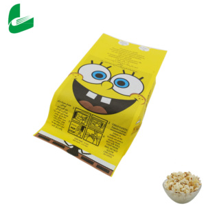 Jinan Huafeng customized waterproof and greaseproof biodegradable heat seal kraft paper bags for microwave popcorn packing