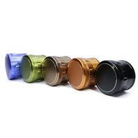 4 Part New Polygon Aluminum Side Concave 2.5 Inches Herb Grinder