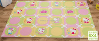 interlocking floor cartoon Hello Kitty carpet