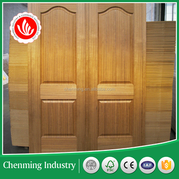 natural teak moulded door skin with high quality