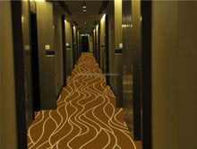 Belgium Machine Made Hotel Corridor Floral Nylon Printed Carpet With Modern Carpet Design