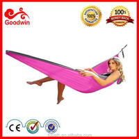 Portable 400LBS Load-Bearing Outdoor Garden Nylon Hammock Hang Bed Travel Camping Swing Survival Outdoor 2 People Sleeping