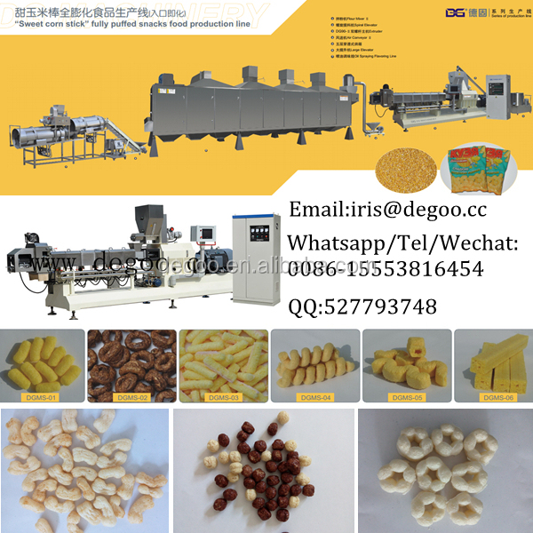 Jams filling-core corn puffed snack food processing line from Jinan DG