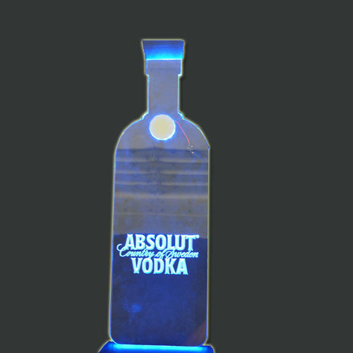 acrylic led light display for spirit / liquor