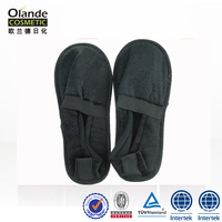 Black Colour Terry Soft Hotel Slippers Indoor Wholesale