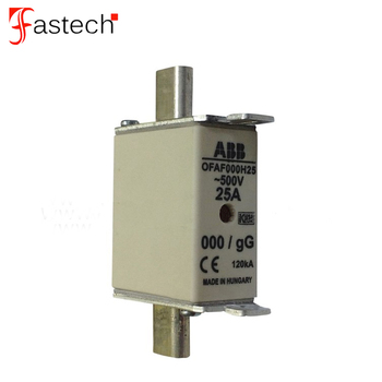 High quality low voltage and super rapid fuse 500V 25A OFAF000H25 Hrc fuse