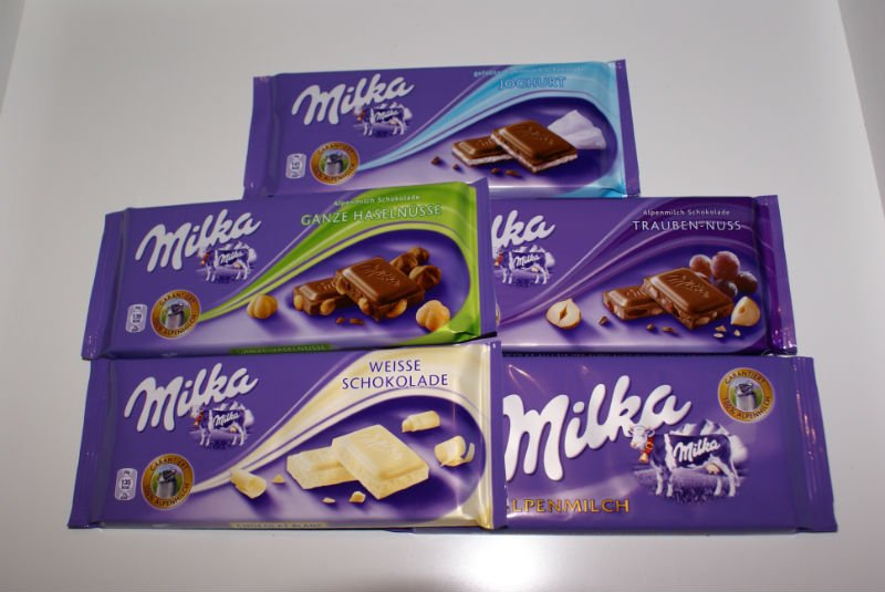 GERMAN FOOD - DELI - Specialities from Germany. MILKA BAR 100g = 0,56 Euro