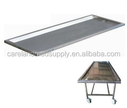 CL-F6 cadaver trolley stainless steel corpse trolley for hospital & funeral field mortuary trolley