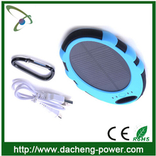 Factory wholesale portable solar mobile charger solar cell phone charger 5000 mAH