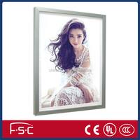 Fabric wall system led light box with aluminum frame from Shenzhen port