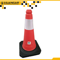 YUANFAR audited factory supply 100cm Plastic traffic cones for salee