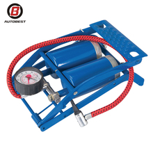 New Style Twin Double Barrel Cylinder Air Inflator Manual Hydraulic Foot Pump