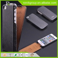 2016 Genuine Leather Wallet Phone Case Curve Edge Flip Style, Vintage Folio Cover for Apple iPhone 5 5S SE