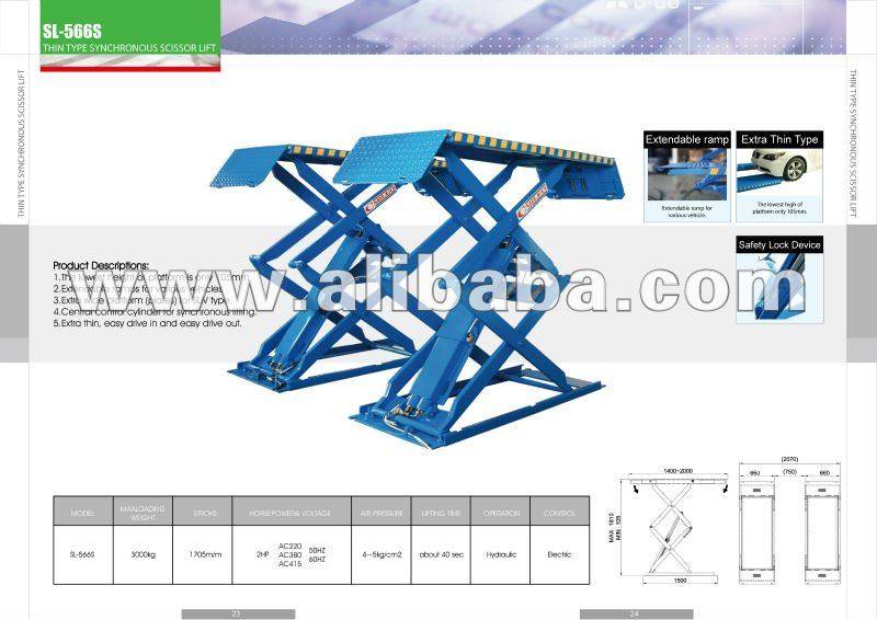THIN TYPE SYNCHRONOUS SCISSOR CAR LIFT