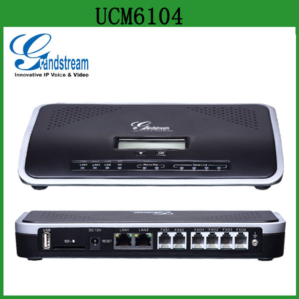 Cheap Grandstream 2FXS/4FXO IP PBX UCM6104 with Asterisk for Enterprise