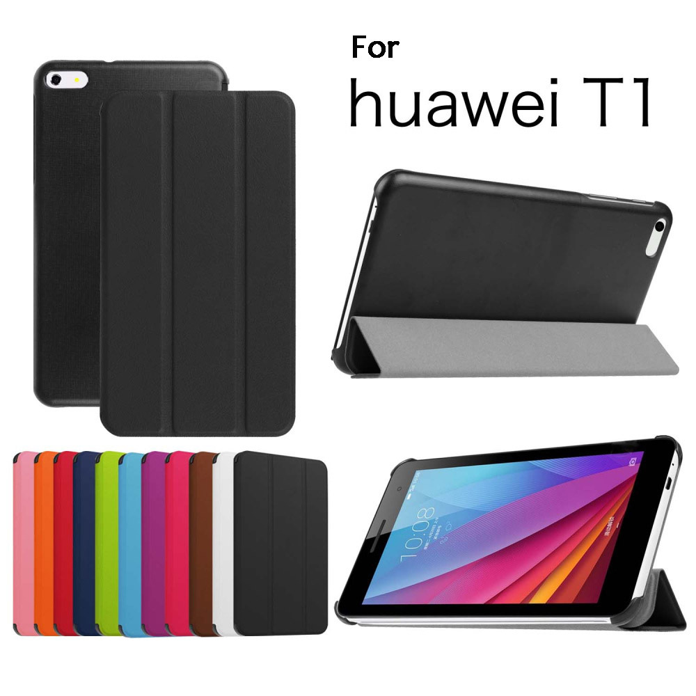 "GENUINE Leather Stand Case For 7"" Huawei Mediapad T1 7.0 T1-701U Tablet Smart Cover"