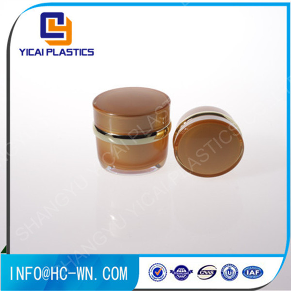 2016 hot sale 50g drum shape acrylic cosmetic jar