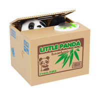 Wholesale Piggy Bank Chatora Little Panda Itazura Automated Steal Coin Savings Box Creative Gift