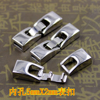 flat leather cord bracelet hook clasps, clasps for leather