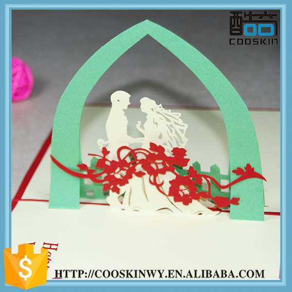 Promotion gift 3d wedding invitation card