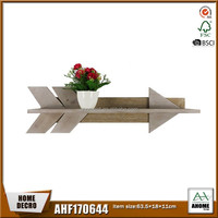 Arrow Design Wooden Home Wall Decor Storage Shelf