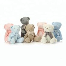 Knitted Wool New Design Stuffed Soft Teddy Bear With Ribbon Toy Gift