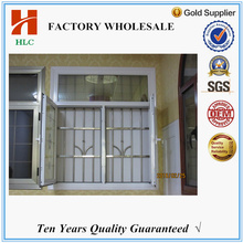 Color customized double tempered glass iron window grill design
