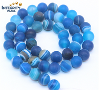 8mm,10mm Polished Blue striped agate stone natural stone, wholesale gemstone loose strands
