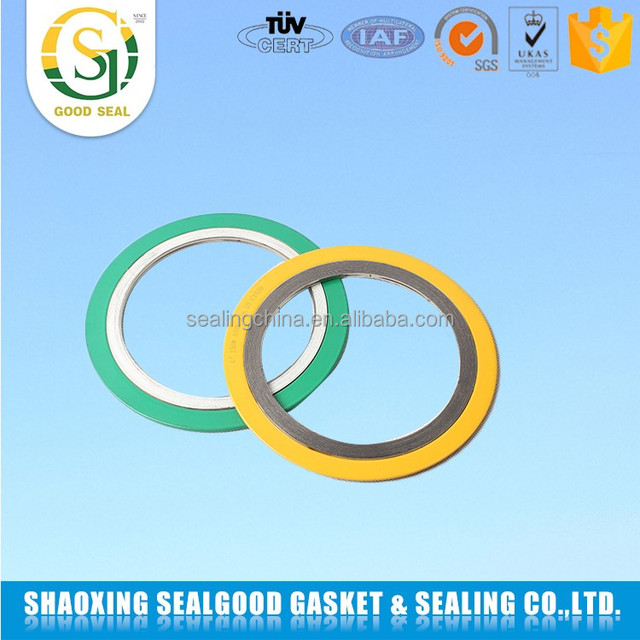 Manufacturer China with outer ring ss316 graphite spiral wound gasket