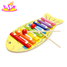 Wholesale mini kids percussion musical instrument wooden toy xylophone with 8 tone W07C062