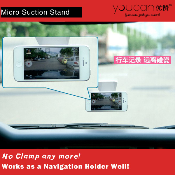 Creative Universal Micro Suction Car Cell Phone Holder for Navigation