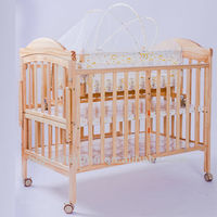 2014 new design solid baby wooden bed baby crib baby cot HP-27