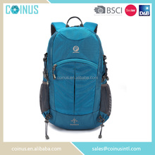 China manufacturer cheap nylon sports backpack with water bottle holder