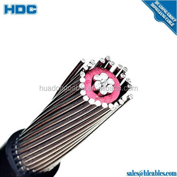 2*4AWG+4AWG,2*8AWG,2*10AWG, 8000 series aluminum alloy conductor armoured XLPE /PVC insulation concentric electrical cable