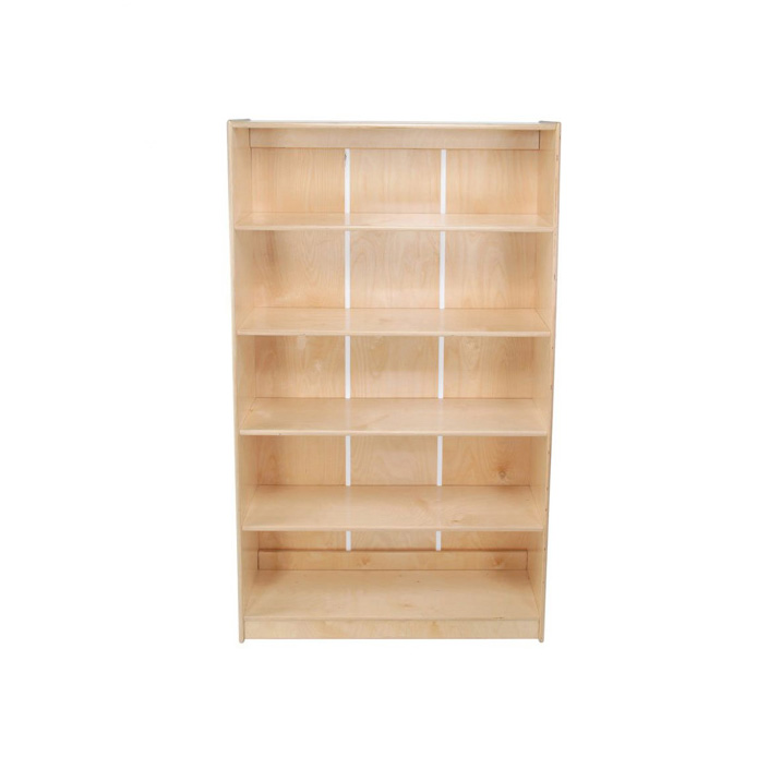 Factory Directly Home Use Furniture Wooden Movable Bookshelf of China National Standard