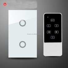 118*72mm touch screen wall switch led touch light switch touch glass switch with remote control