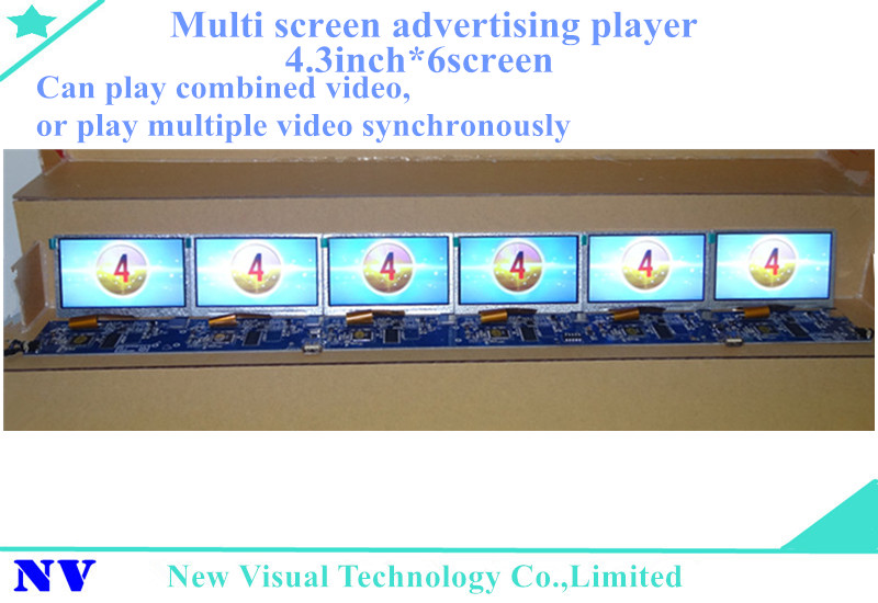 ShelfVision 4.3inch*6screen free sync ultra wide qhd monitor