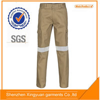 high quality cotton multi pocket mens work cargo pants