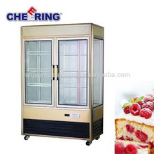 sliding door static cooling available cooler equipment bakery refrigerator showcase