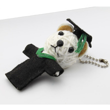 popular lucky gifts love couple keyring, cheap string voodoo doll keychain