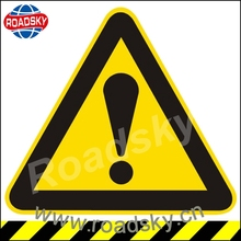 reflective yellow metal hazard warning safety sign with low price