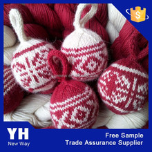 2015 Attractive knitted Hot sale christmas ornament ball