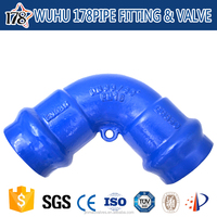 ~ductile iron 90 degree bends pipe fitting