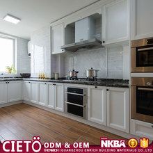 china supplier made Quality Standard Modern Style Kitchen Furniture Hotel Design White Glossy Kitchen Cabinet