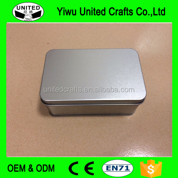 Plain printed Metal tin soap tin box for package