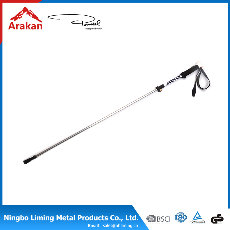 Reasonable & acceptable price aluminum walking trekking hiking pole stick 3 sections walking sticks