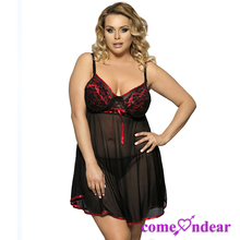 Sexy Baby Seven Size black Crepe Factory Price XXX Sexy Babydoll