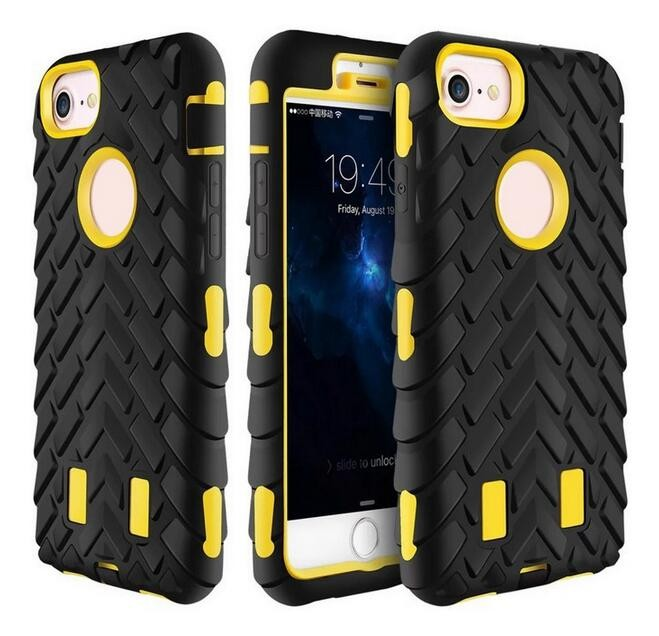 2017 Rugged Tire Texture Kickstand Stand Phone Case For iPhone 7 Case