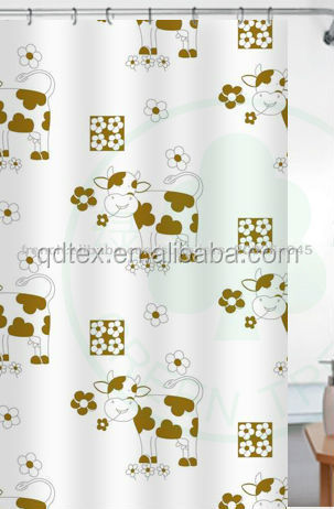 2014 new design unique fancy printed european style shower curtains