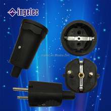 Yiwu No.1hot sell EU Schuko plug waterproof power plug 16A 250V without wirer
